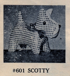 MM Vin 601 Scotty 1946 Oil Cloth Toy